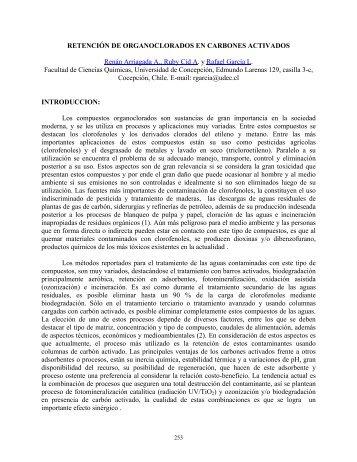Retención de organoclorados en carbones activados
