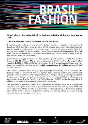 133d69f7f Brazil shows the potential of its fashion industry at Project ... -  Texbrasil