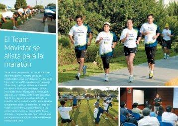 El Team Movistar se alista para la maratón - Telefonica en Peru