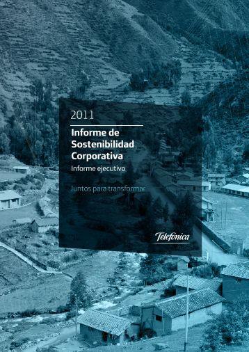 Informe de Sostenibilidad Corporativa - Telefonica en Peru