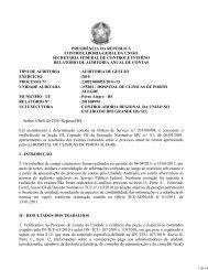 Relatório de Auditoria Anual de Contas - Controladoria-Geral da ...