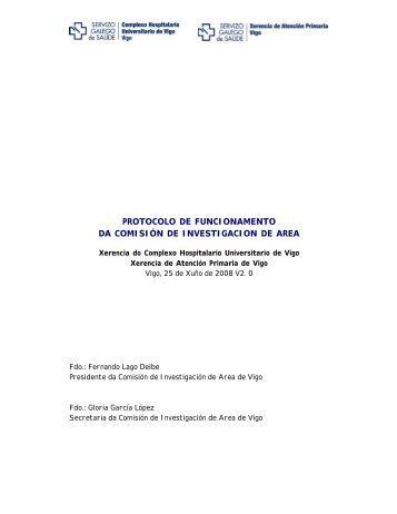 protocolo de funcionamento da comisión de investigacion de area