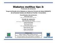 Protocolo diabetes mellitus tipo 2 - Sociedad Española de Diabetes