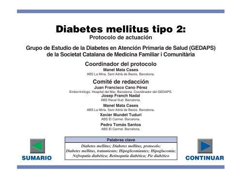 declaración de consenso de ada rose sobre el manejo de la diabetes tipo 2