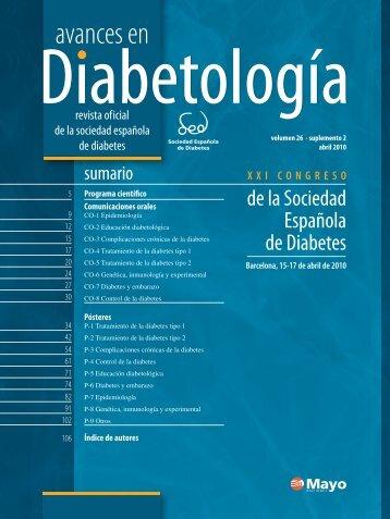 programa científico - Sociedad Española de Diabetes