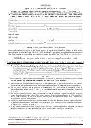 modello a domanda di partecipazione e dichiarazioni invito ad ...
