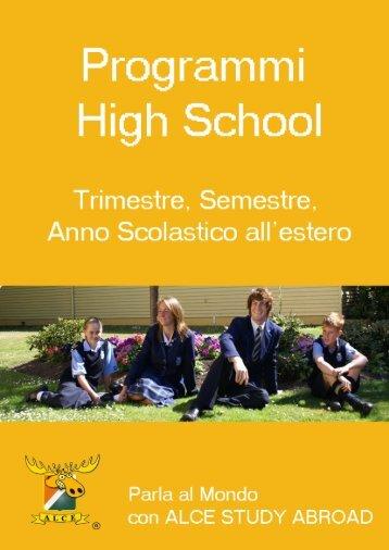 Anno scolastico all'estero - ALCE