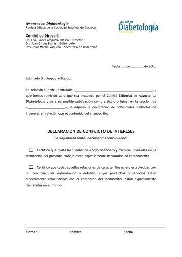DECLARACIÓN DE CONFLICTO DE INTERESES - Sociedad ...