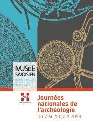 Programme complet - Edytem - Université de Savoie