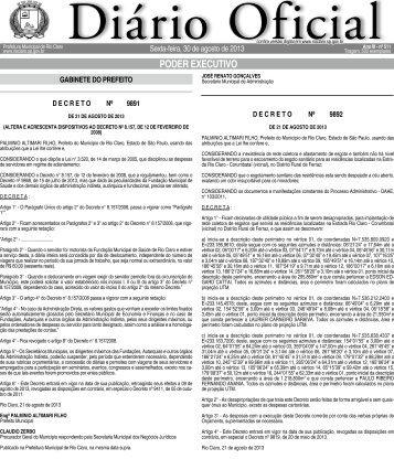 pODER EXECUTivO - Prefeitura Municipal de Rio Claro - Governo ...