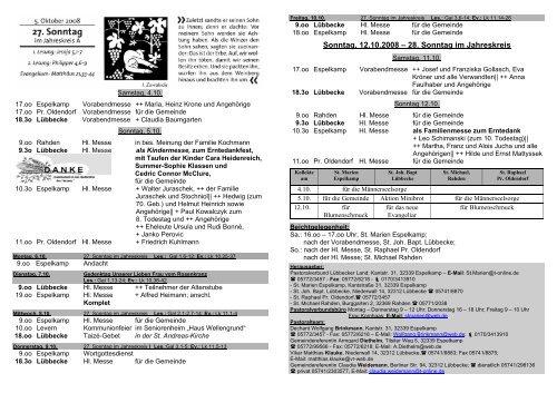 Nr 38 am 25 Sonntag - Pastoralverbund - Lübbecker Land