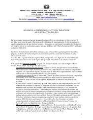relazione al termine delle attivita' didattiche anno scolastico 2009 ...