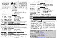 11 Sonntag im Jahreskreis - Pastoralverbund - Lübbecker Land