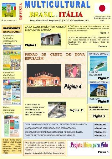 Revista_17_março_2011 - Revista Multicultural Brasil & Italia