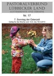 Nr 17 - 7. Sonntag der Osterzeit - Pastoralverbund - Lübbecker Land
