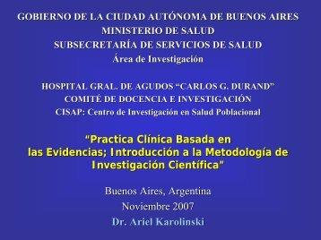 Practica Cl Clínica Basada en clínica las Evidencias - Programa de ...