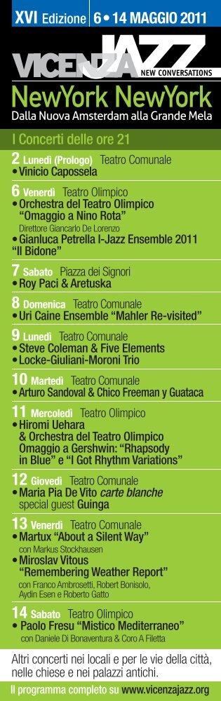 scarica il programma dei concerti delle ore 21 e del ... - Vicenza Jazz