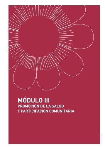 MÓDULO III Promoción de la salud y Participación comunitaria