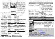 29. Sonntag im Jahreskreis - Pastoralverbund - Lübbecker Land