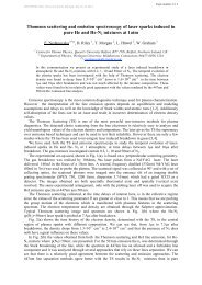 Thomson scattering and emission spectroscopy of ... - escampig 2012