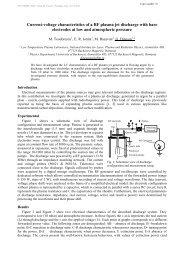 Current-voltage characteristics of a RF plasma jet ... - escampig 2012