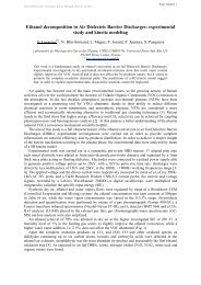Ethanol decomposition in Air Dielectric Barrier ... - escampig 2012