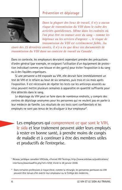 Le VIH et le sida au travail - Clinique médicale l'Actuel