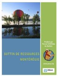 Montérégie - Portail VIH / sida du Québec