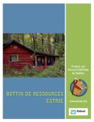 Estrie - Portail VIH / sida du Québec