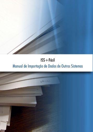 Manual de Importação de Dados - ISS+Fácil