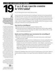 19Y a-t-il un vaccin contre le VIH/sida?