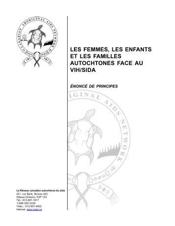 Femmes, enfants et familles autochtones face au VIH/Sida