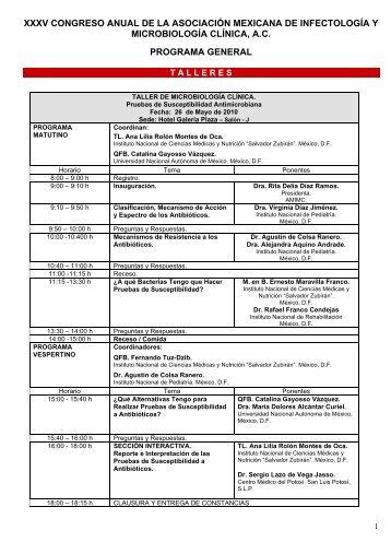 xxxv congreso anual de la asociación mexicana de infectología y ...
