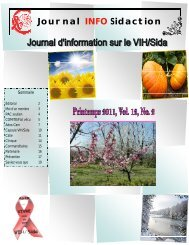 Journal INFO Sidaction - Portail VIH / sida du Québec