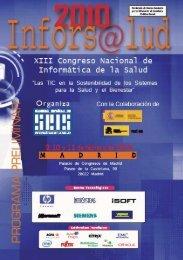 preliminar inforsalud 2010.indd - Sociedad Española de Informática ...