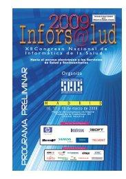 pre inforsalud 09.indd - Sociedad Española de Informática de la Salud