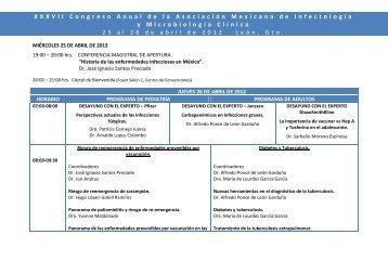 mircoles 25 de abril de 2012 - Asociación Mexicana de Infectología ...