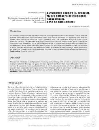 (B. cepacia). - Asociación Mexicana de Infectología y Microbiología ...