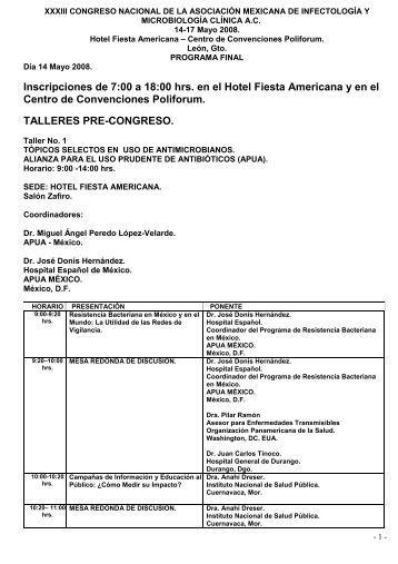 Descargar programa final - Asociación Mexicana de Infectología y ...