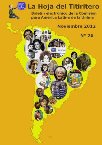 Año 9 - Noviembre 2012 - La Hoja del Titiritero