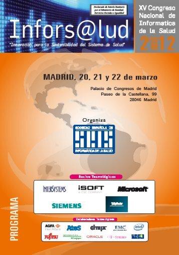 Inforenf2012 - Sociedad Española de Informática de la Salud