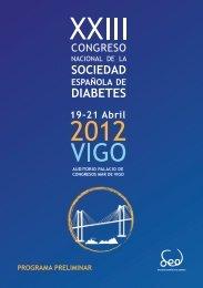 PROGRAMA PRELIMINAR - Sociedad Española de Diabetes