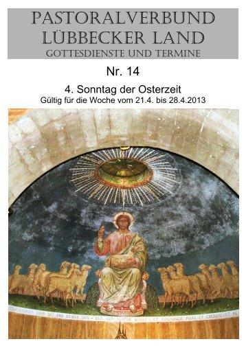 Nr 14 - 4. Sonntag der Osterzeit - Pastoralverbund - Lübbecker Land
