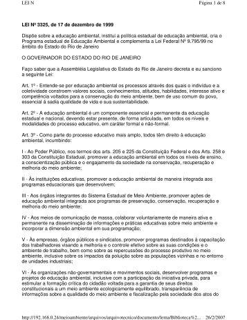 Política Estadual de Educação Ambiental do Rio de Janeiro