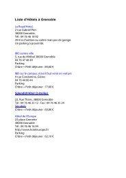 Une liste d'hôtels à Grenoble pdf - Edytem