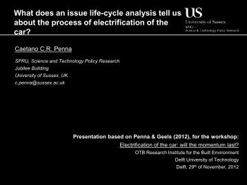 What does an issue life-cycle analysis tell us about the ... - INCT/PPED