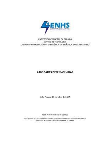 Atividades desenvolvidas pelo LENHS UFPB (confira aqui!)