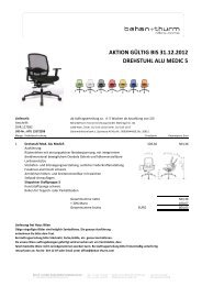aktion gültig bis 31.12.2012 drehstuhl alu medic 5 - Behan & Thurm