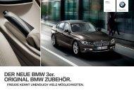 DER NEUE BMW er. ORIGINAL BMW ZUBEHÖR.