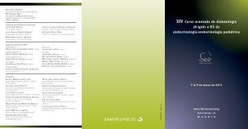 Programa - Sociedad Española de Diabetes